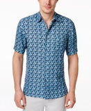 Tasso Elba Men's Beasley Herringbone Short-Sleeve Shirt, Only at Vogily