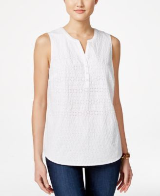 Tommy Hilfiger Eyelet Sleeveless Top