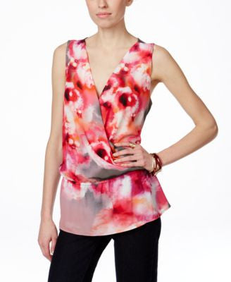 INC International Concepts Sleeveless Printed Peplum Blouse, Only at Vogily