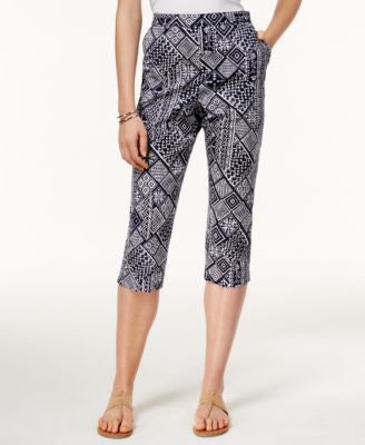 Alfred Dunner Geometric-Print Cropped Pants