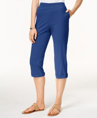 Alfred Dunner Cropped Pull-On Pants