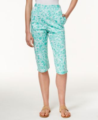 Alfred Dunner Petite Starfish-Print Pull-On Pants