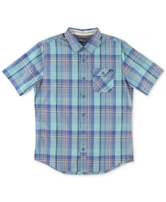 O'Neill Men's Emporium Plaid Short-Sleeve Button-Front Shirt