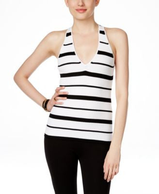 INC International Concepts Striped Halter Top, Only at Vogily