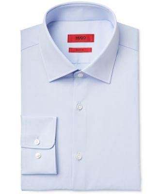 HUGO Men's Slim-Fit Solid Dress Shirt