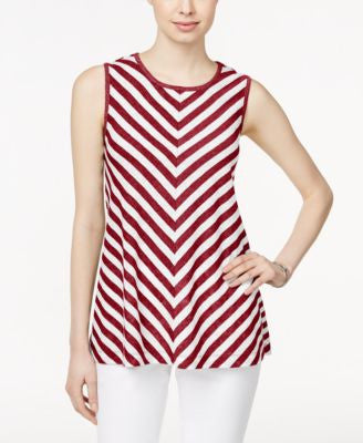 Style & Co. Sleeveless Chevron-Print Top, Only at Vogily