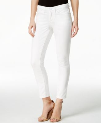 Calvin Klein Jeans Skinny Ankle White Wash Jeans