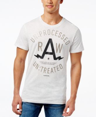 GStar Men's Raw Gelph Graphic-Print Logo T-Shirt