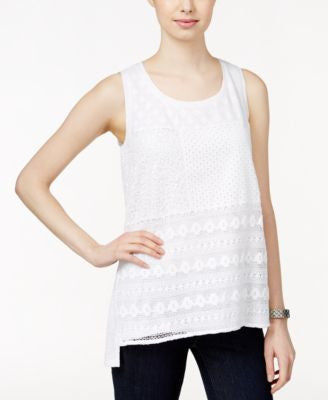 Style & Co. Sleeveless Patchwork Top, Only at Vogily