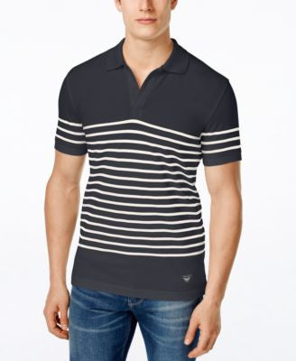 Armani Jeans Men's Piqué Striped Polo
