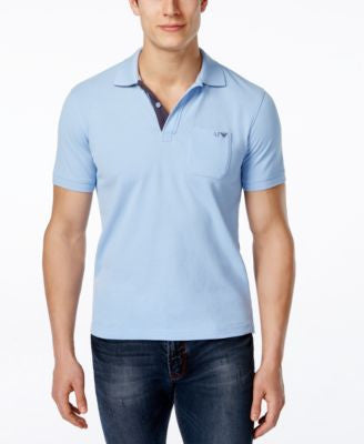 Armani Jeans Men's Piqué Contrast-Placket Polo