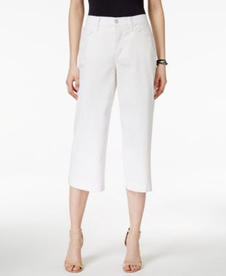 NYDJ Kate Spotless White Wash Culotte Jeans