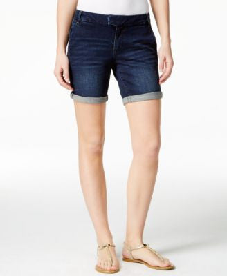 Nanette by Nanette Lepore Cuffed Asphault Wash Shorts