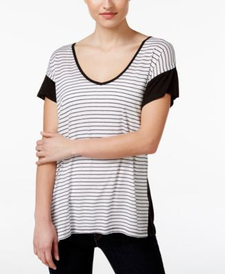 Calvin Klein Jeans Striped Short-Sleeve Top