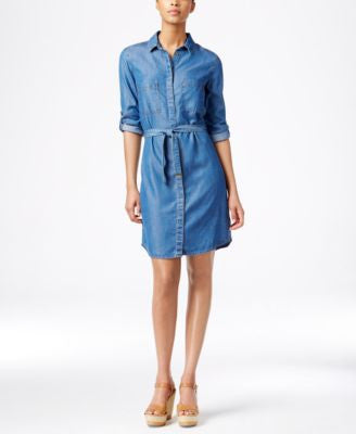 Kut from the Kloth Denim Belted Shirtdress