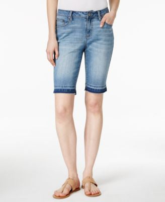 Earl Jeans Released-Hem Bermuda Shorts