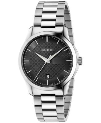 Gucci Unisex Swiss G-Timeless Stainless Steel Bracelet Watch 38mm YA126457