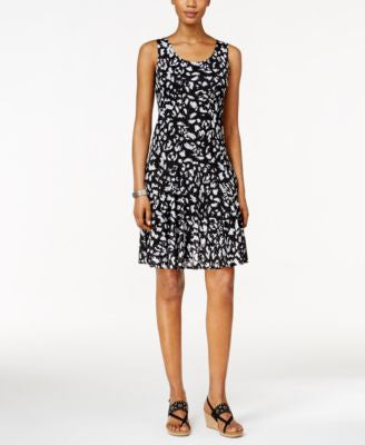Style & Co. Petite Sleeveless Printed Sheath Dress, Only at Vogily