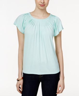 Style & Co. Pleated-Neck Top, Only at Vogily