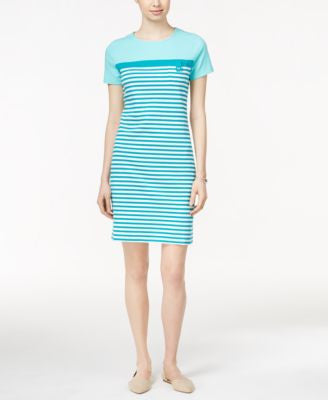 Karen Scott Striped Short-Sleeve Sheath Dress, Only at Vogily