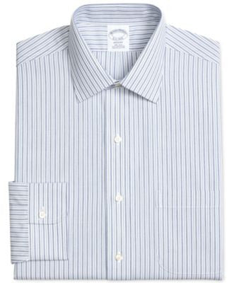 Brooks Brothers Men's Regent Classic-Fit Non-Iron Blue Striped Dress Shirt