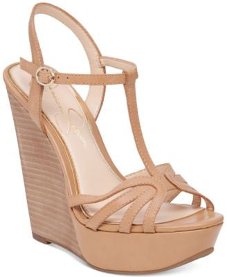 Jessica Simpson Bevin T-Strap Wedge Sandals