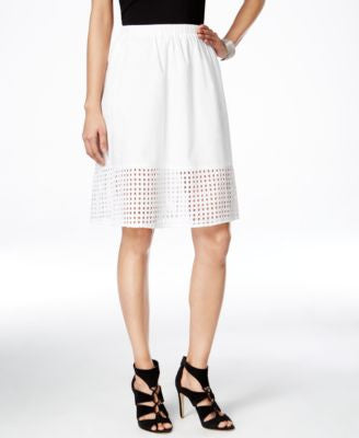 Vince Camuto Eyelet A-Line Skirt