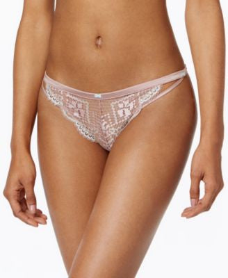 Heidi Klum Intimates Little Havana Satin and Lace Bikini H30-1366