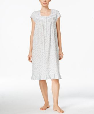 Eileen West Knit Ruffle Nightgown