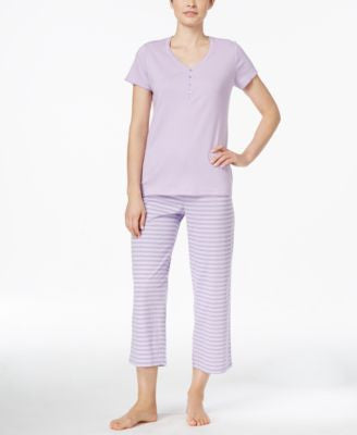 Charter Club Petite Cropped Pajama Set, Only at Vogily