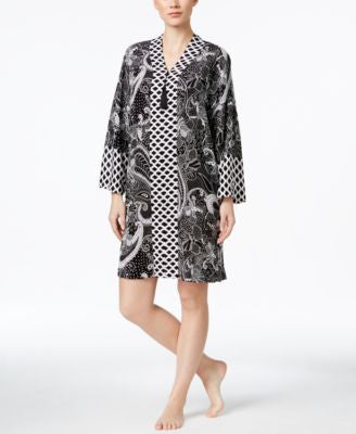 Charter Club Contrast-Trim Short Caftan, Only at Vogily