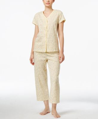 Charter Club Petite Print Pajama Set, Only at Vogily
