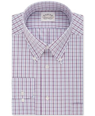 Eagle Men's Classic-Fit Non-Iron Concord Purple Plaid Dress Shirt