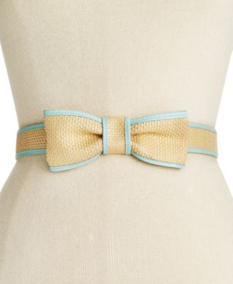 kate spade new york Straw Bow Belt