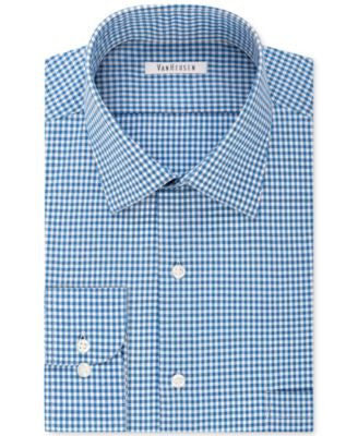 Van Heusen Men's Classic-Fit Non-Iron Checked Dress Shirt