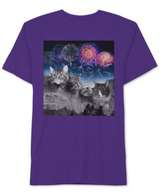 Jem Men's Cat Rushmore Graphic-Print T-Shirt