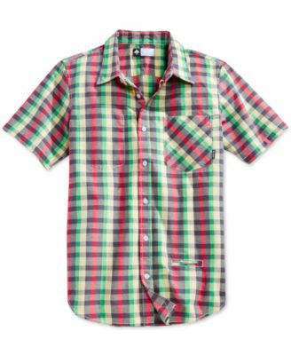 LRG Men's Big & Tall Burt McGirt Plaid Short-Sleeve Shirt