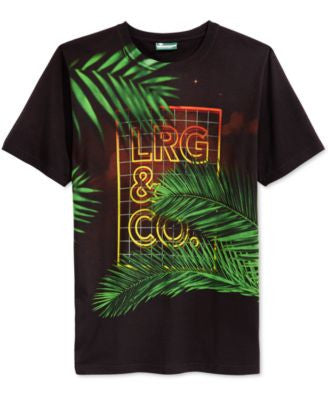 LRG Men's Neon Forest Graphic-Print Logo T-Shirt