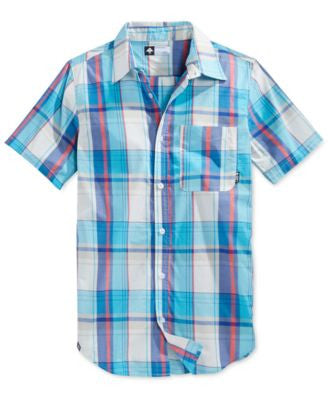 LRG Men's RC One Plaid Short-Sleeve Shirt