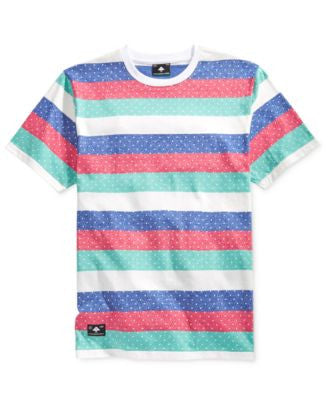 LRG Men's Big & Tall Spotty Dotty Dot-Stripe T-Shirt