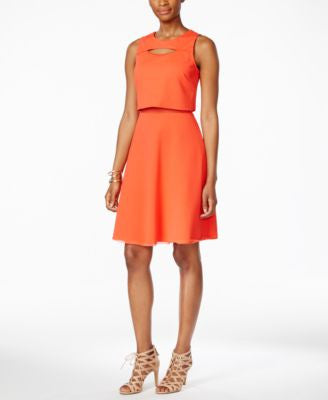 RACHEL Rachel Roy Textured Popover Dress