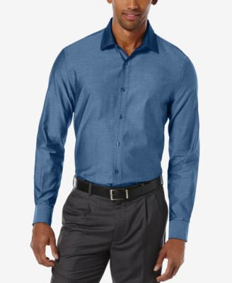 Perry Ellis Long-Sleeve Solid Twill Shirt