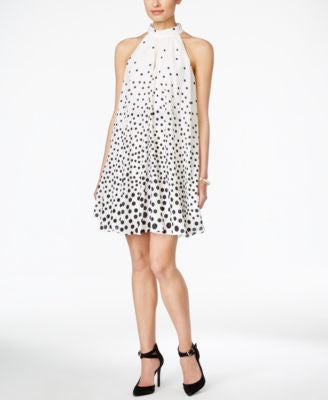 Jessica Simpson Dot-Print Trapeze Dress