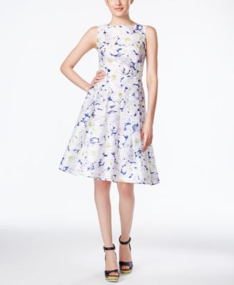 Tommy Hilfiger Sleeveless Floral-Print Fit & Flare Dress
