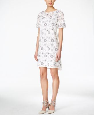 BCBGeneration Floral-Print Shift Dress