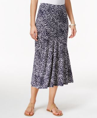 JM Collection Cheetah-Print Pull-On Skirt, Only at Vogily