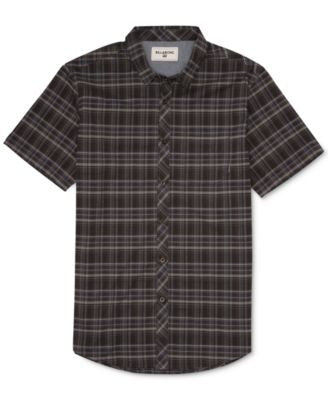 Billabong Men's Roadhouse Plaid Short-Sleeve Shirt