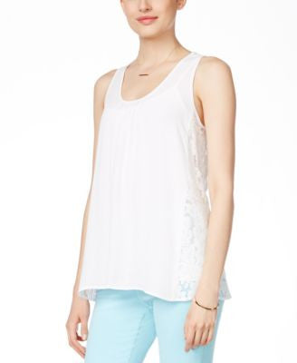 Karen Kane Lace-Back Tank Top