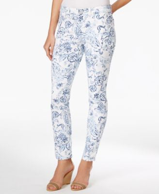 Charter Club Bristol Printed Slim-Leg Ankle Jeans, Only at Vogily