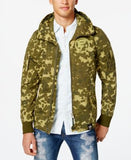 GStar Men's Batt Camouflage Hooded Full-Zip Overshirt